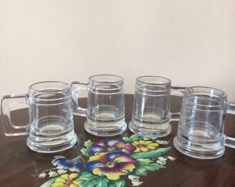 Vintage Mini  Beer Stein styled shot glasses, liquor glasses