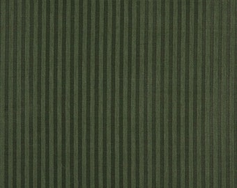 Dark Green Two Toned Stripe Upholstery Fabric By The Yard | Pattern # A134