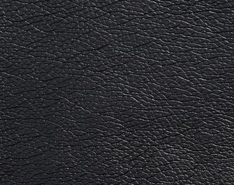 Black Breathable Leather Look And Feel Upholstery By The Yard | Pattern # G429