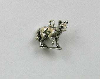 Sterling Silver 3-D Walking Fox Charm