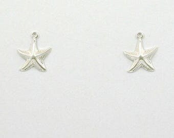 925 Sterling Silver Starfish Charms, Set of 2 - stc-SS118