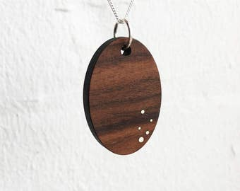 Wood Pendant Necklace - 5 Anniversary Gift - Women's Wood Jewelry - Wood Gift for Her - 5 Year Anniversary Gift - Gift for Wife