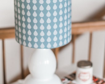 Blue Drops Lamp Shade