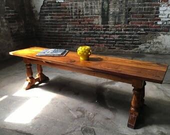 Mid century modern bench teak bench mid century coffee table danish modern teak bench