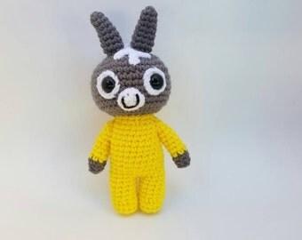 Trotro - Bedtime - Crochet - Stuffed Animal - with Yellow Pyjamas (8 inches)