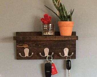 Key Holder, Key Shelf, Coat Rack, Robe Hook, wall decor, wall key holder, wall key hook, for her, housewarming, apartment decor, for them