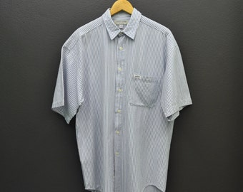 Guess Shirt Vintage Guess Jeans Button Down Striped Shirt Mens Size M