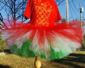 Christmas skirt - Christmas tutu - Triple layered skirt - Toddler tutu skirt - Girls tutu skirt - Christmas outfit - Holiday outfit - Tutu