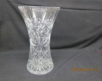 Large Cut Glass Vase