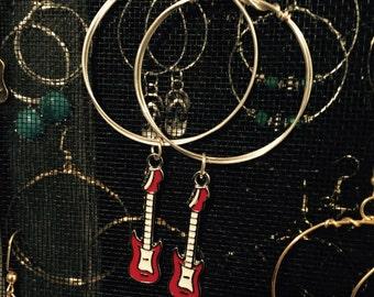 Bella silver red electric guitar