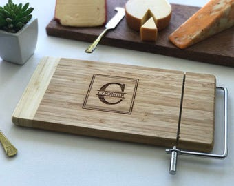 Monogram Cheese Board, Engraved Cutting Board, Custom Name, Wedding Gift, Anniversary, Monogrammed Gift For Her, Husband Gift
