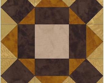 Chocolate Cake Star 15 Inch Block Paper Template Quilting Block Pattern PDF