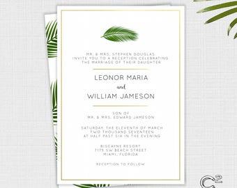Palm & Gold Wedding