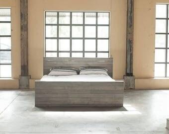 brix modern wood bed frame - Modern Wood Bed Frame