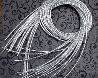 Bolo Tie Cord, Metallic Silver Color, 38 3/4 inches long MBTC1SC
