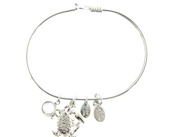 Silver Crab Bracelet with Swarovski Crystal