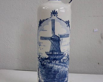 Bottle Mill Holland, Stamped: Delft Blue Made in Holland Handwerk 27 D 1 - 74/26