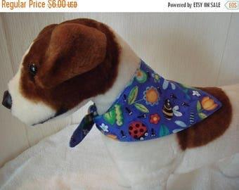 ON SALE Dog Bandana, Tie-On Dog Bandana, Reversible