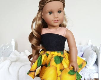 18 inch doll lemon skirt and bustier