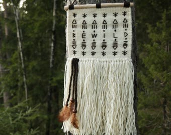 Woven wall hanging, decoration