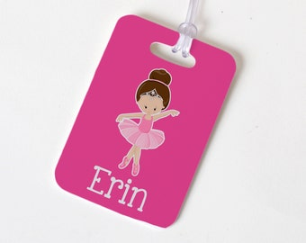 Ballet Bag Tag - Pink Girls Luggage Tag