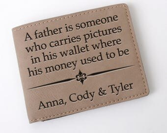 Mens Wallet for Dad - Personalized Father's Day Gift
