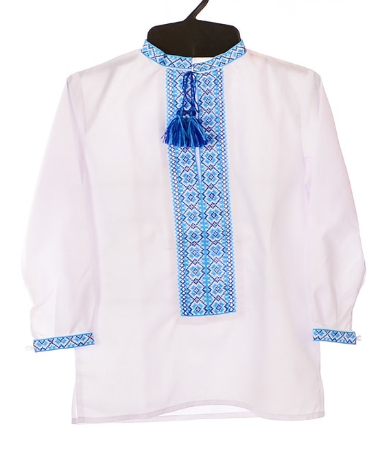 Ukrainian hand embroidered boy s shirt by storeofembroidery