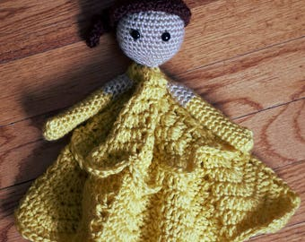 Princess Belle Inspired Lovey Blanket