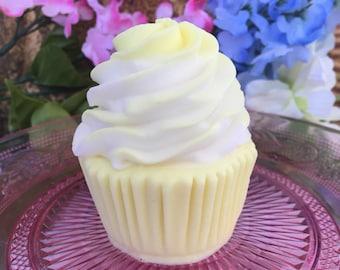 Cupcake Soap - Lemon Cake Cupcake Soap - Birthday Party Soap - Bakery Soap - Cupcake Shower Favor - Glycerin Soap Favor