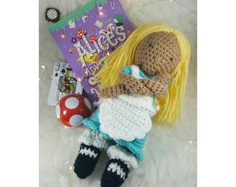 Alice in Wonderland Doll, Crochet Doll