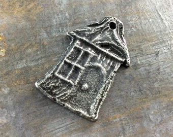 Pendant, Handcrafted, Hobbit House, Handmade Jewelry Making Craft Supplies No. 525PD