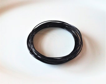 Destash-Square Black Beading Wire-21 gauge Non-Tarnish Jewelry Wire-7 yards Wire-Supplies-DIY Jewelry-Jewelry Findings-Celestial Luxuries