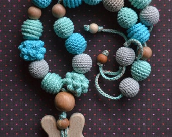 Bunny teething sling necklace