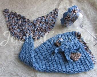 Newborn Mermaid Tail, Mermaid Photo Prop, Baby Mermaid Tail, Baby Mermaid Outfit, Mermaid Costume, Baby Halloween, Newborn Mermaid Prop