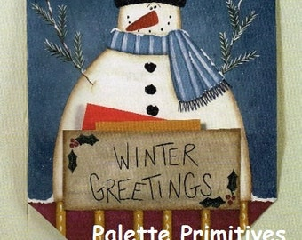 Winter Card Banner E-pattern/Instant Download