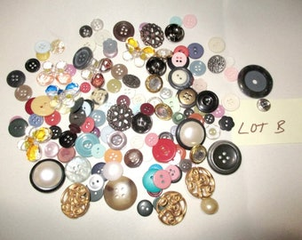 Lot B Vintage to Modern Buttons 130+ Buttons