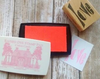 PSX Ink Pad Pink by Personal Stamp Exchange/psx, Color Box Dye Ink Pad, Stamp Pad, Acid Free Ink, Raised Pad