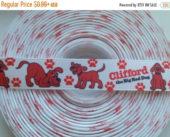 """SUPER SALE RED Dog Inspired 7/8"""" Grosgrain Hair Bow Craft Ribbon 782586"""