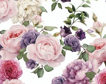 Sample: Vintage Floral Wallpaper