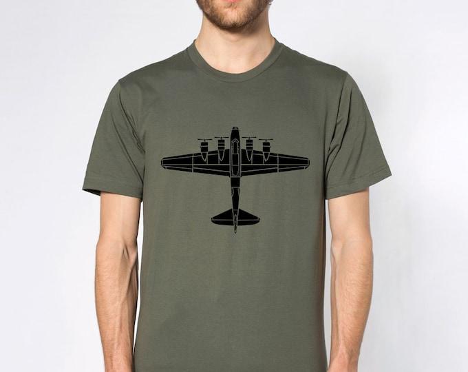 KillerBeeMoto: B17 Flying Fortress Bomber Plane Short & Long Sleeve Shirt
