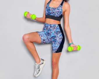 13 SAMPLE - XS/UK 6-8 Liquid Crystal Print, Waist Support, Sport Shorts