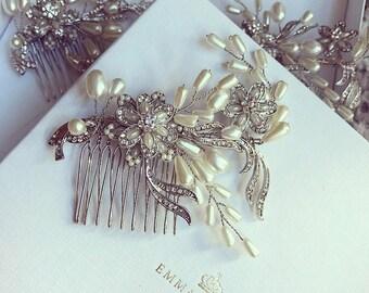 Daisy Wedding hair comb