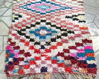 """Moroccan rug boucherouite 415 (boucharouette) 78 x 54"""""""