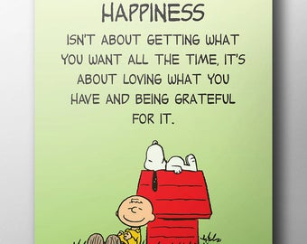 Peanuts Poster - 'Happiness'