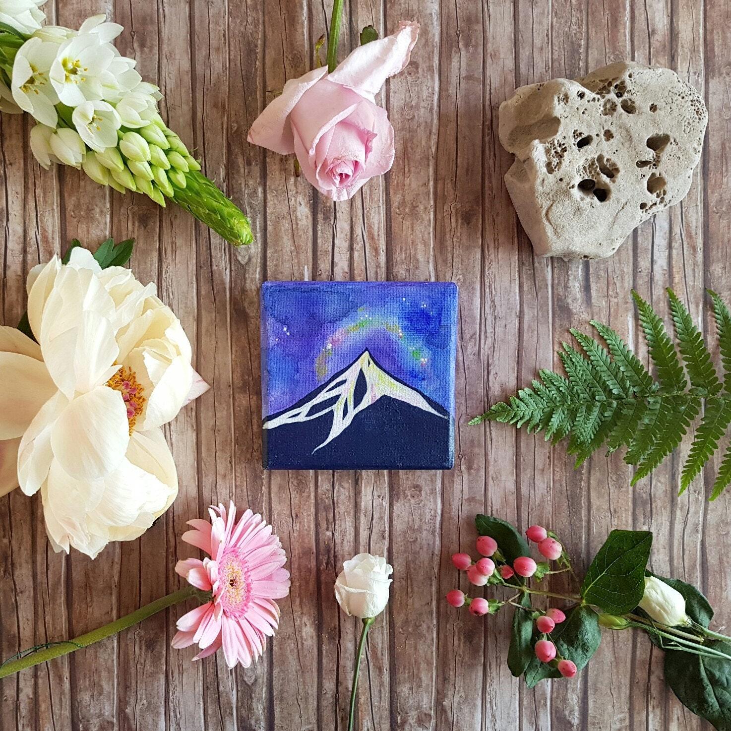 Piccolo dipinto con aurora boreale regalo per lei idea per for Idea per regalo