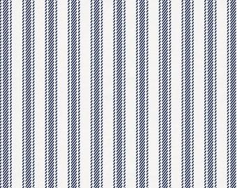 Windsor Navy Ticking Stripe Organic Fabric - By The Yard - Boy / Modern / Fabric