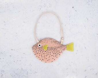 SMALL PINK PUFFERFISH (small pink balloon) - bag fish