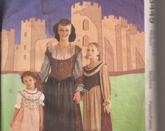 McCalls 8449 Women's Medieval Costume. Size Medium (12-14). Vintage 1996