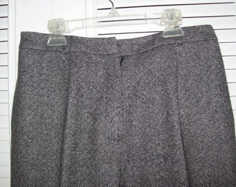 Vintage Talbot's Wool Herringbone Pants! Rich Yesteryear Quality! Size 8