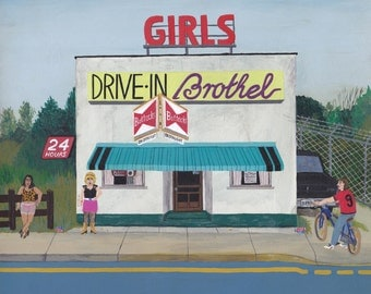 24h DRIVE-IN BROTHEL * limited edition - Art Print 250g/m paper